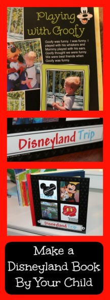 Make a disneyland book by your child