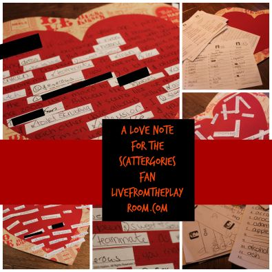 scattergories fan love note