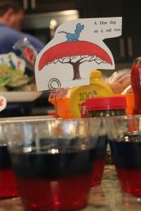Gotta get creative with the jello! Blue dog (jello) on red tree (Jello)