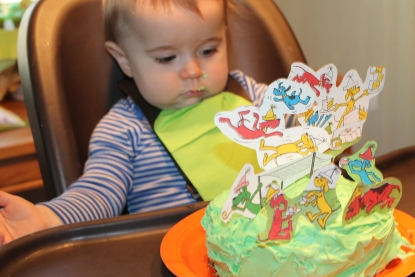 Must have a smash cake for your little! The Go Dog Go party moves to the high chair!
