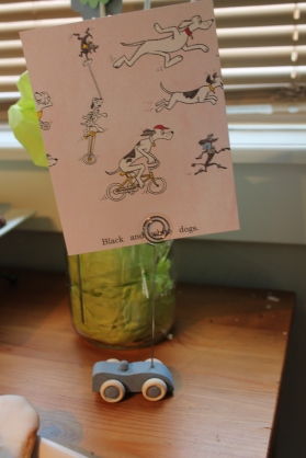 Creative way to incorporate book pages in your party! Go Dog Go!