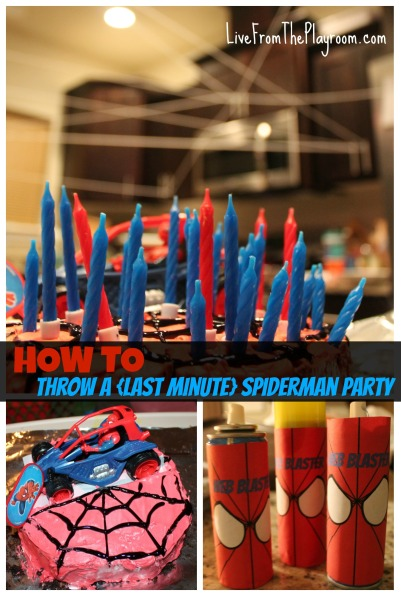 How to throw a last minute spiderman party