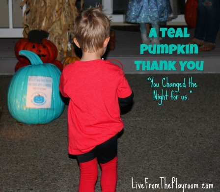 teal pumpkin project thank you