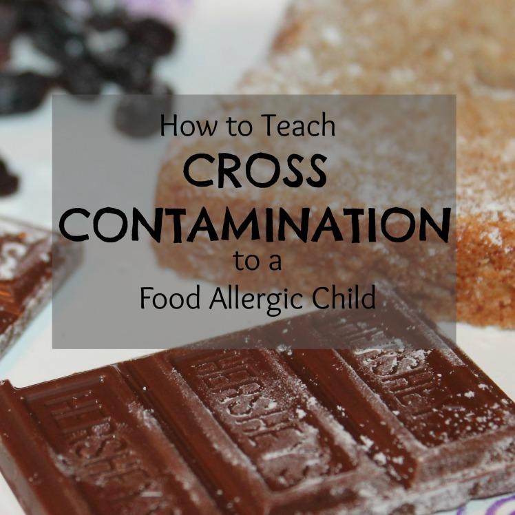 how to teach cross contamination to a food allergic child