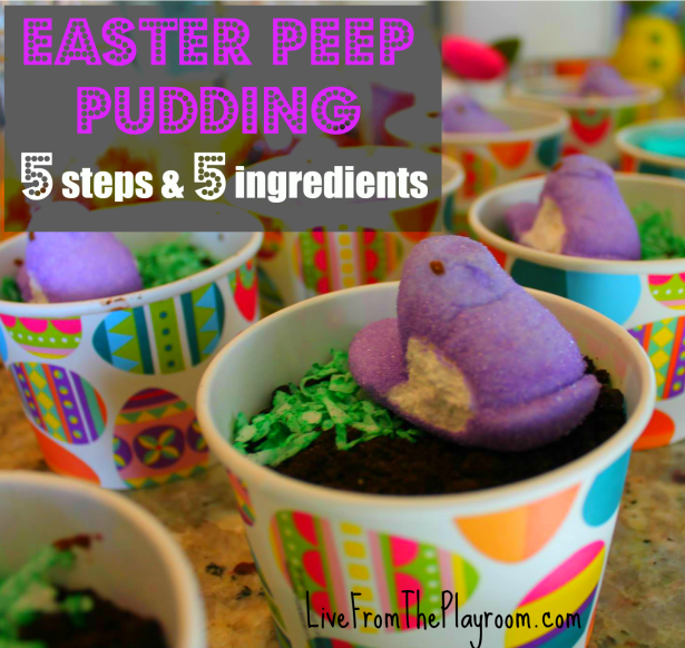 Easter Peep Pudding