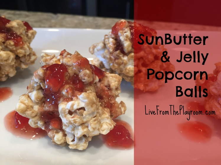 sunbutter and jelly popcorn balls