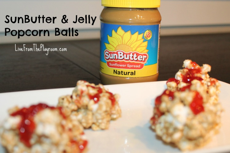 SunButter & Jelly Popcorn Balls