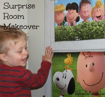 Easy surprise room makeover with decal