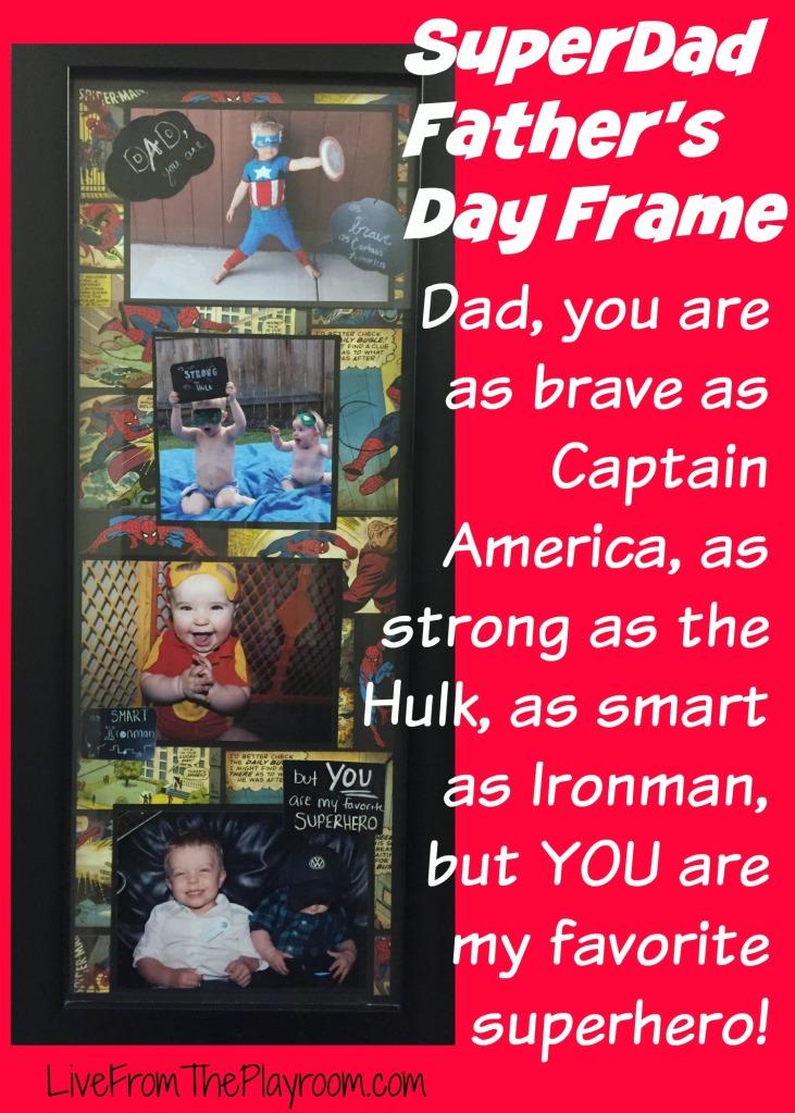superhero father's day frame
